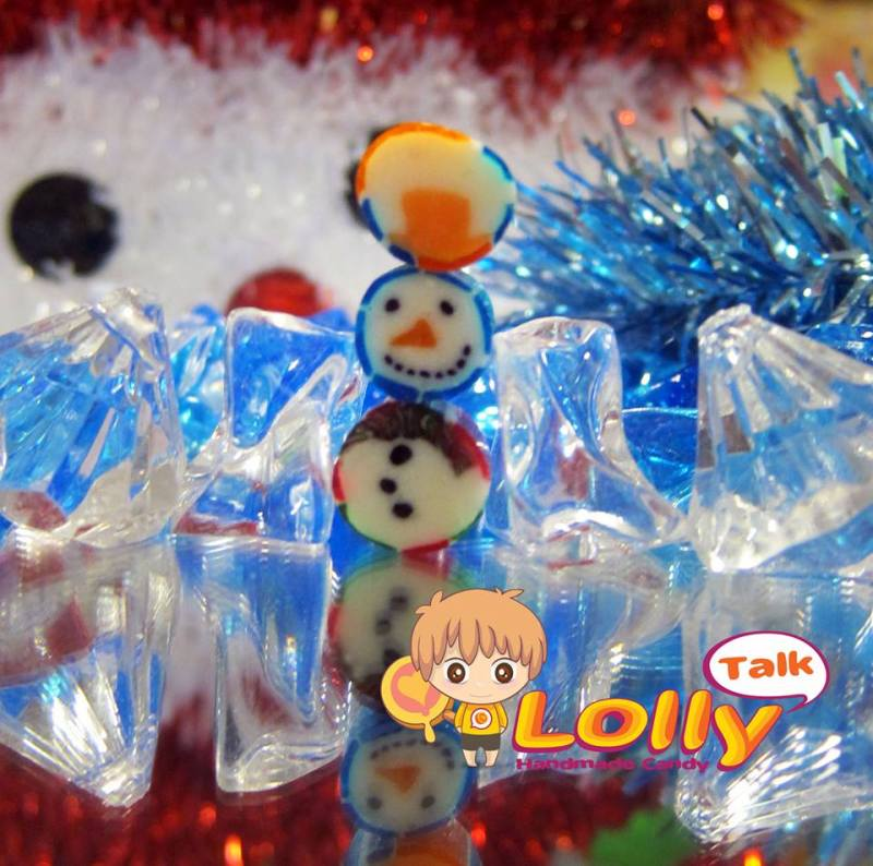 Snow Man Christmas Candy