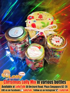 Christmas lollies in glass jars