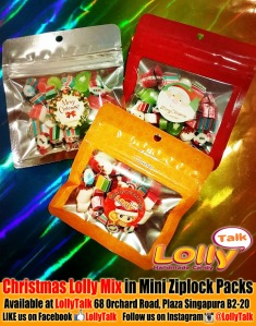Christmas Lolly Mix in Mini Ziplock pack